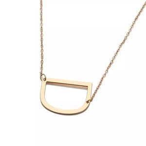 """Jewelry - Gold """"D"""" Initial Necklace"""